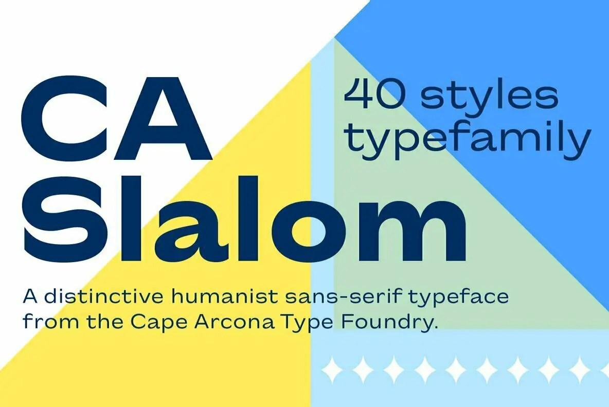 CA Slalom Sans Serif Typeface -1