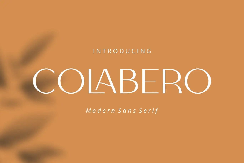 Colabero Modern Sans Font -1
