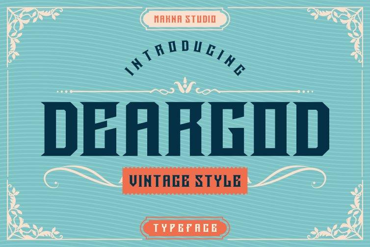 Deargod Vintage Display Font -1