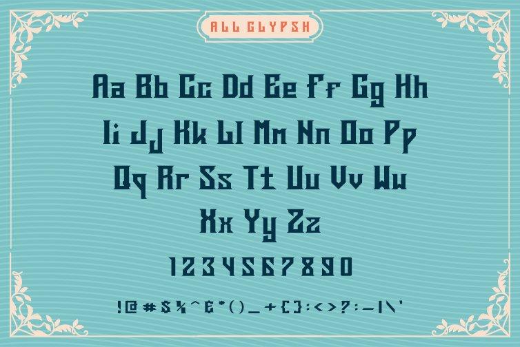 Deargod Vintage Display Font -3