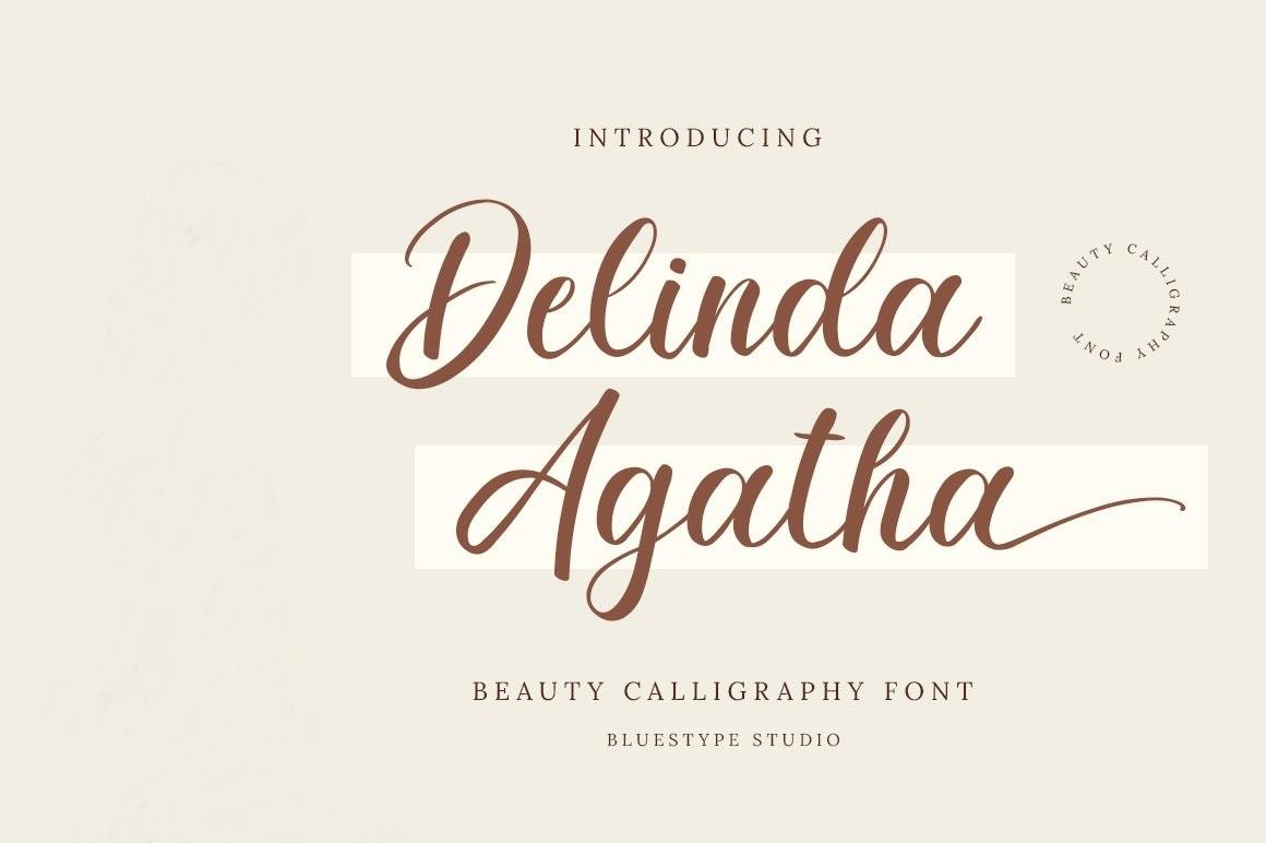 Delinda Agatha Calligraphy Font -1