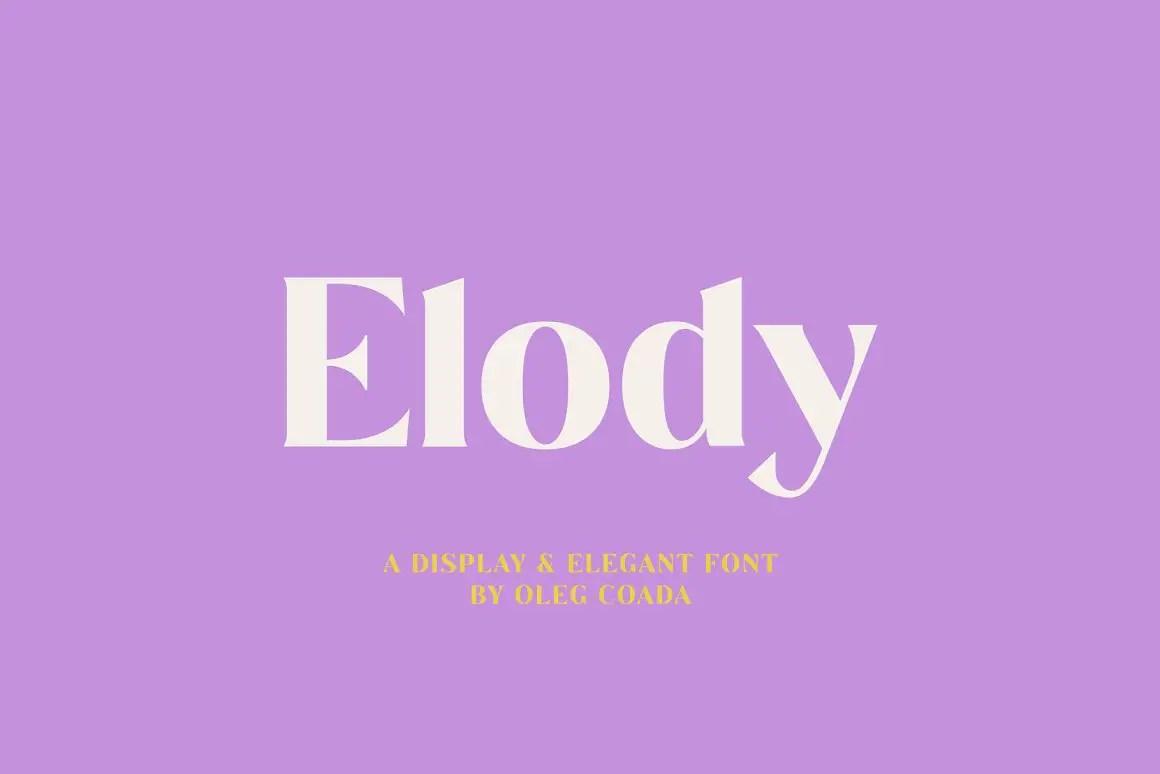 Elody Display and Elegant Font -1