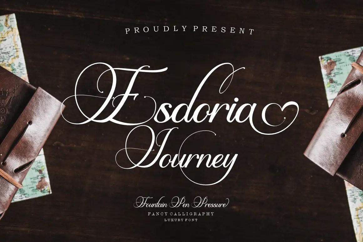 Esdoria Journey Calligraphy Font -1