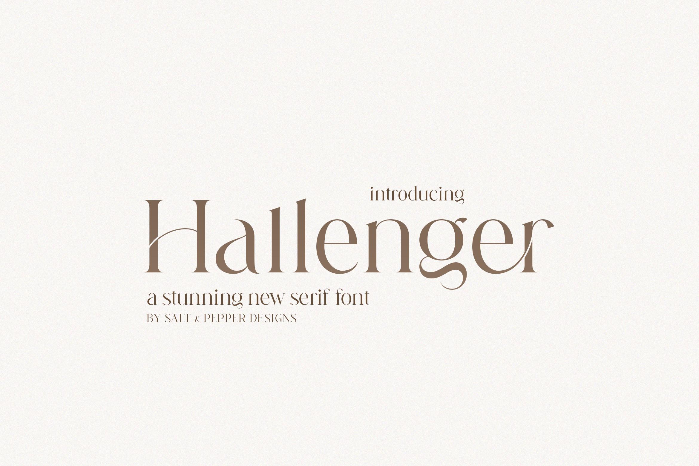 Hallenger Modern Serif Font -1