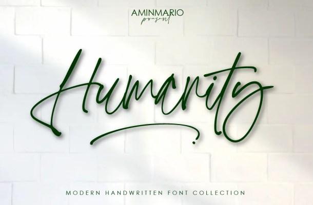 Humanity Font