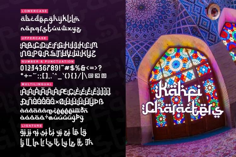 Kahfi Awesome Arabic Typeface -3