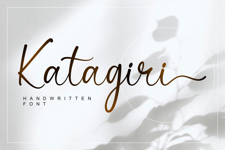 Katagiri Handwritten Font -1
