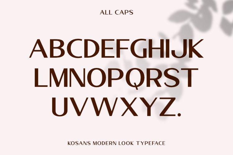 Kosans Modern Sans Typeface -2