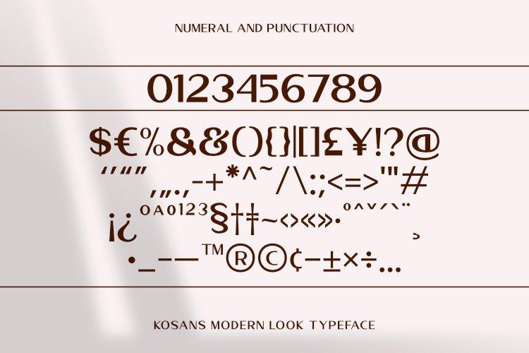 Kosans Modern Sans Typeface -3