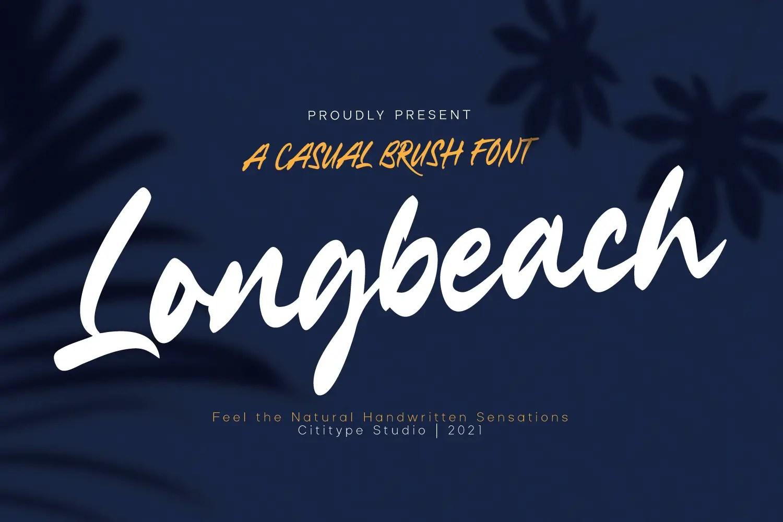 LongbeachHandwritten Font -1