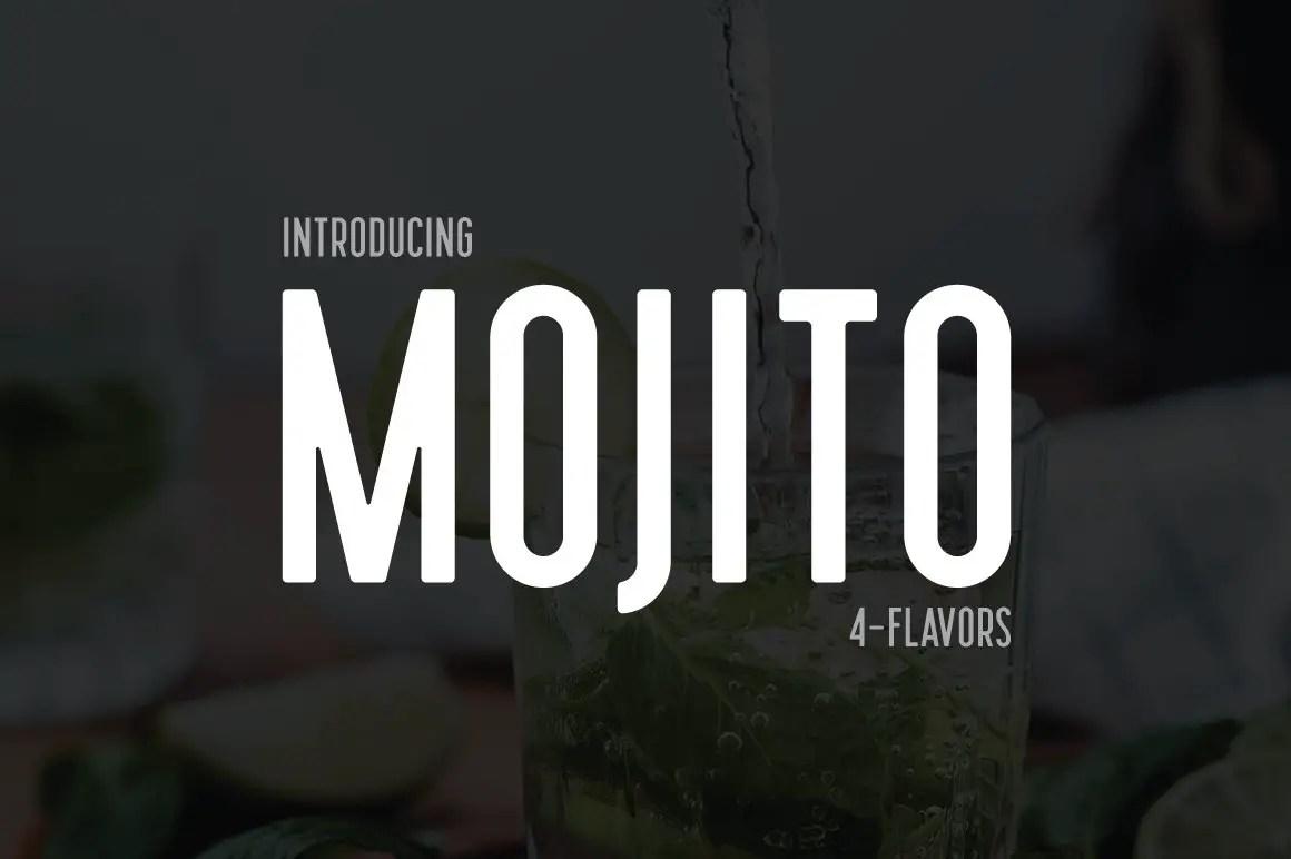 Mojito Semi Condensed Sans Font -1