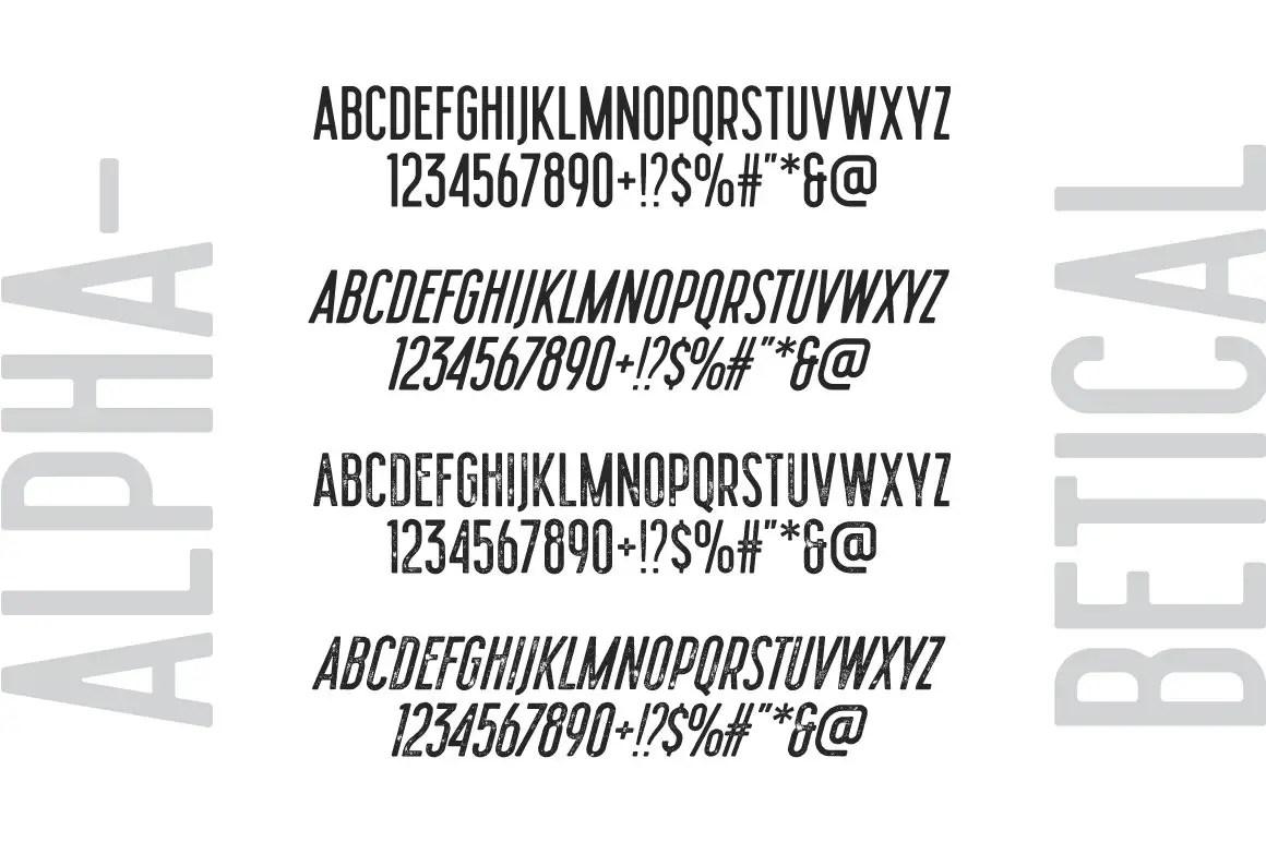 Mojito Semi Condensed Sans Font -3