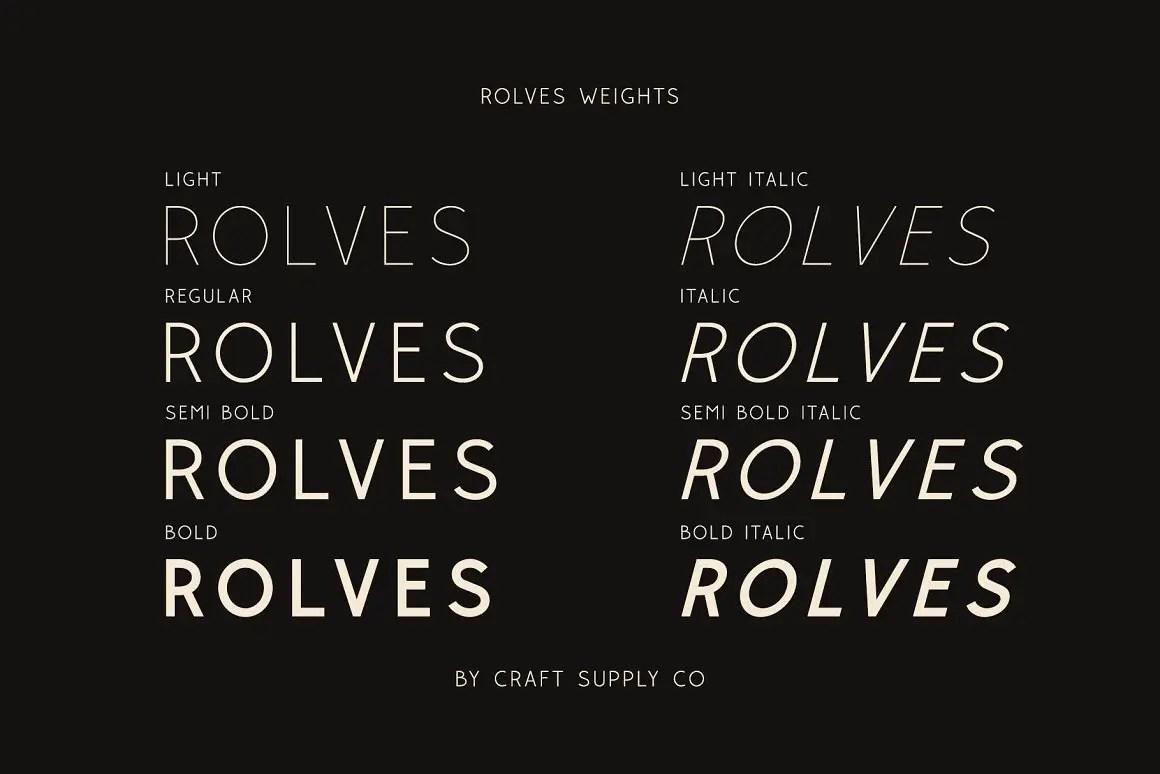Rolves Sans Serif Font Family -2