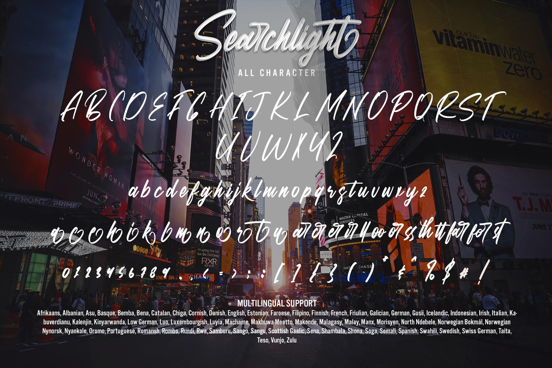 Searchlight Brush Script Font -3