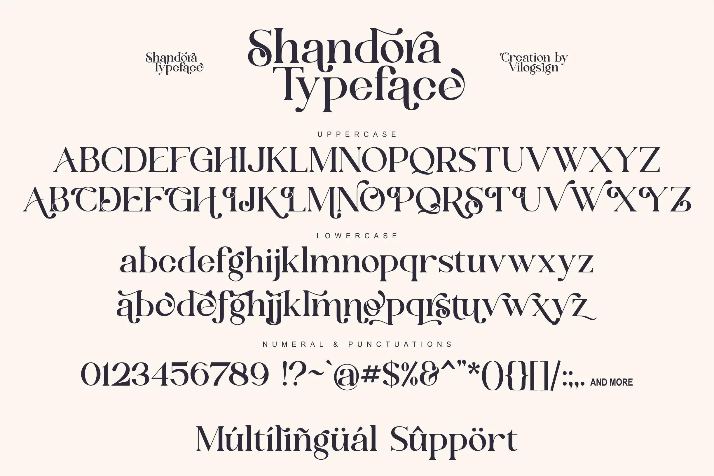 Shandora Modern Serif Typeface -3