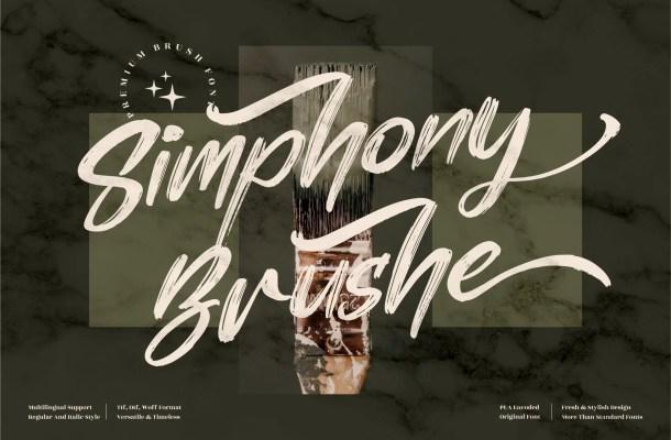 Simphony Brushe Font