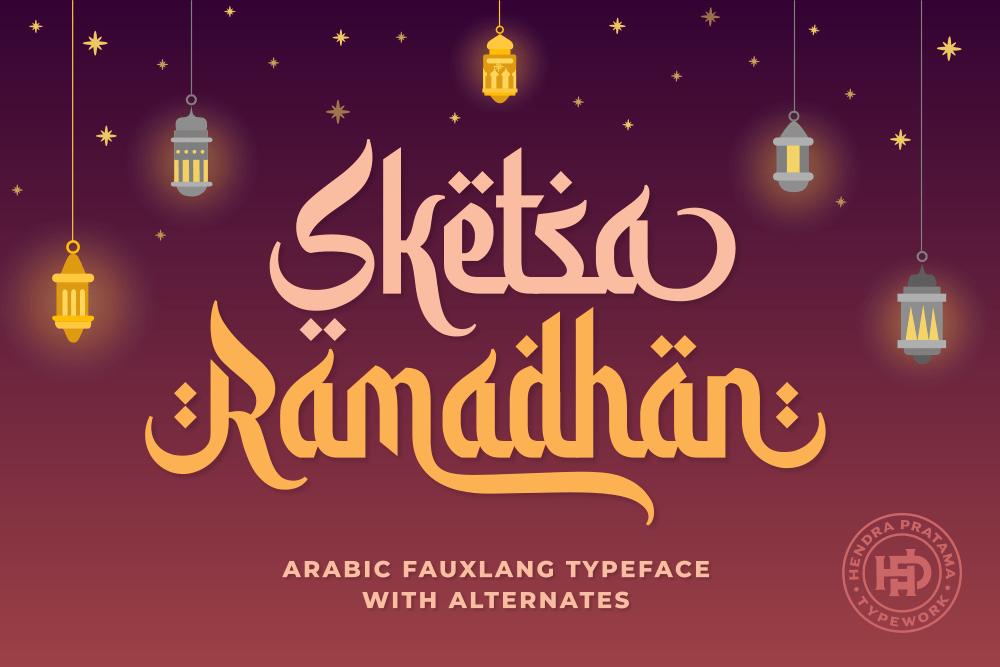 Sketsa Ramadhan Arabic Font -1