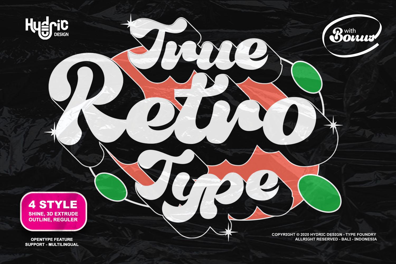 True Retrotype Bold Retro Font -1