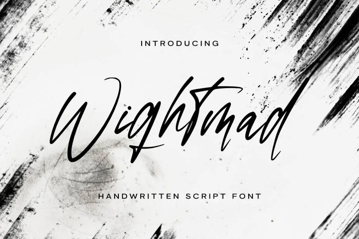Wightmad Handwritten Script Font -1