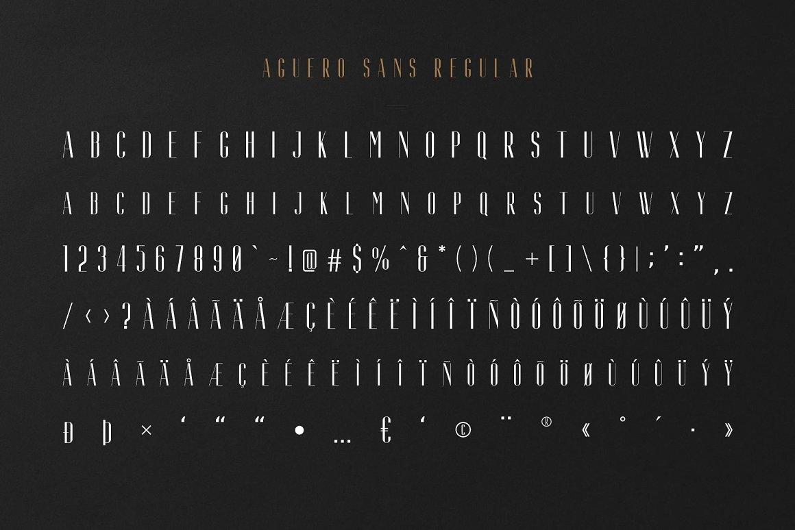 AgueroSans Serif Font Family -2