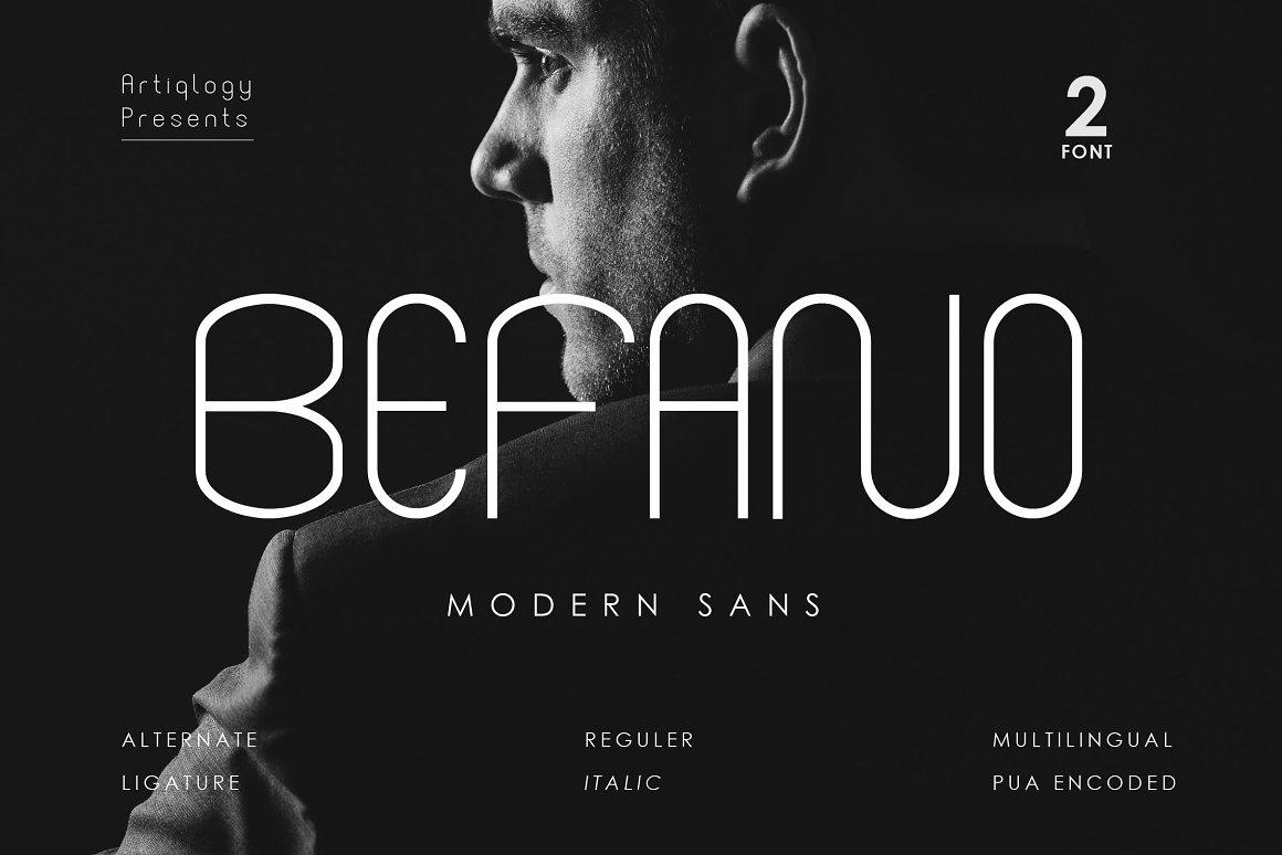 BEFANO Sans Serif Font -1