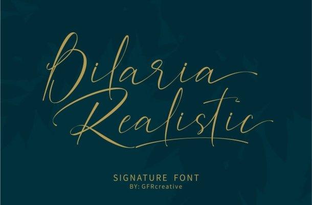 Bilaria Realistic Font