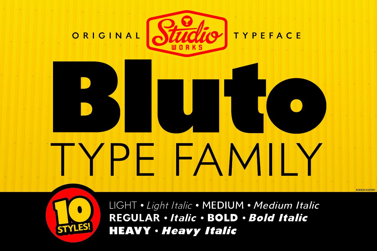 Bluto Bold Sans Font Family -1