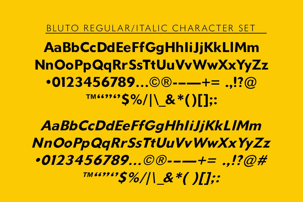 Bluto Bold Sans Font Family -3
