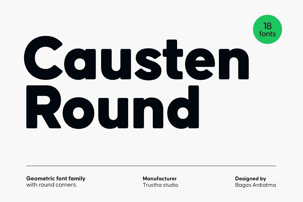Causten Round Sans Serif Font -1