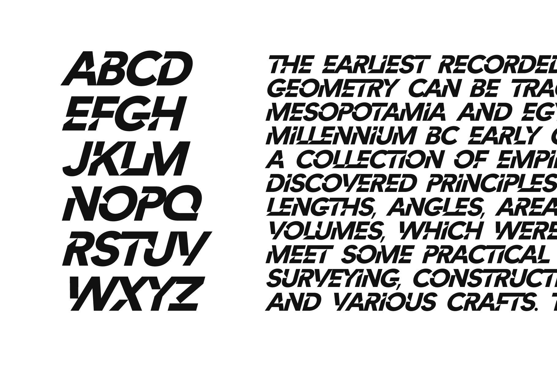 Cut Angles Display Font -2