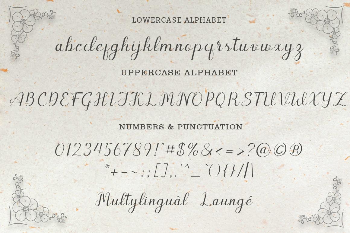 Geshya Elegant Calligraphy Font -3