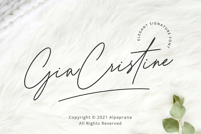 Gia Cristine Handwritten Font -1