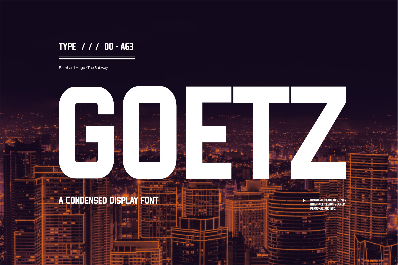 Goetz Modern Sans Serif Font -1