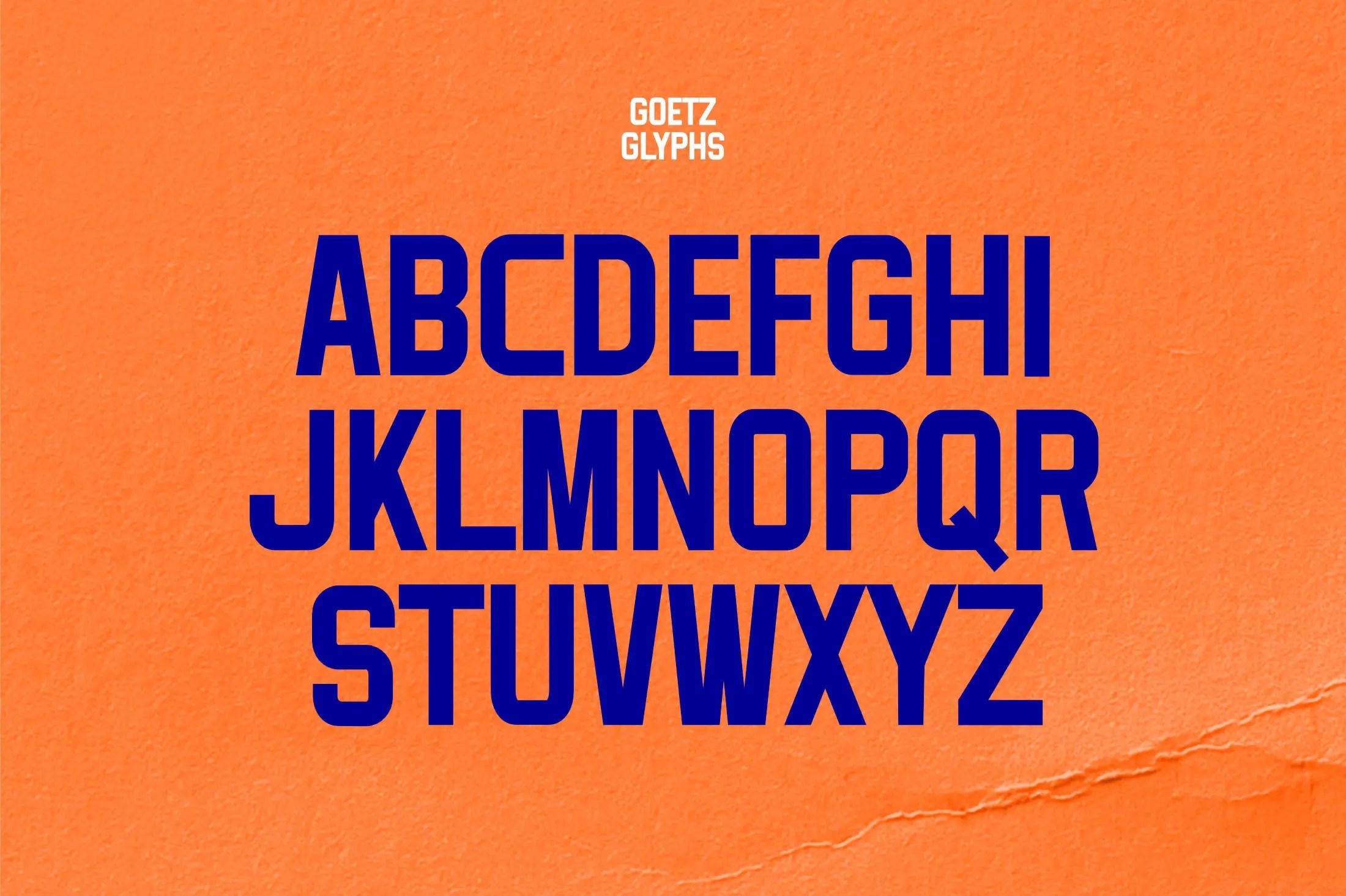 Goetz Modern Sans Serif F2nt -1