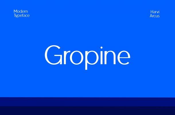Gropine Font