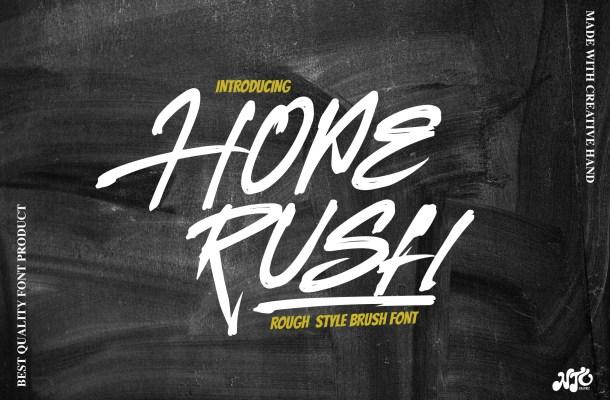 Hoperush Font