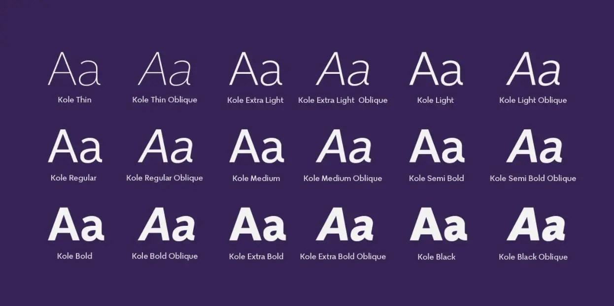 Kole Sans Serif Font -3