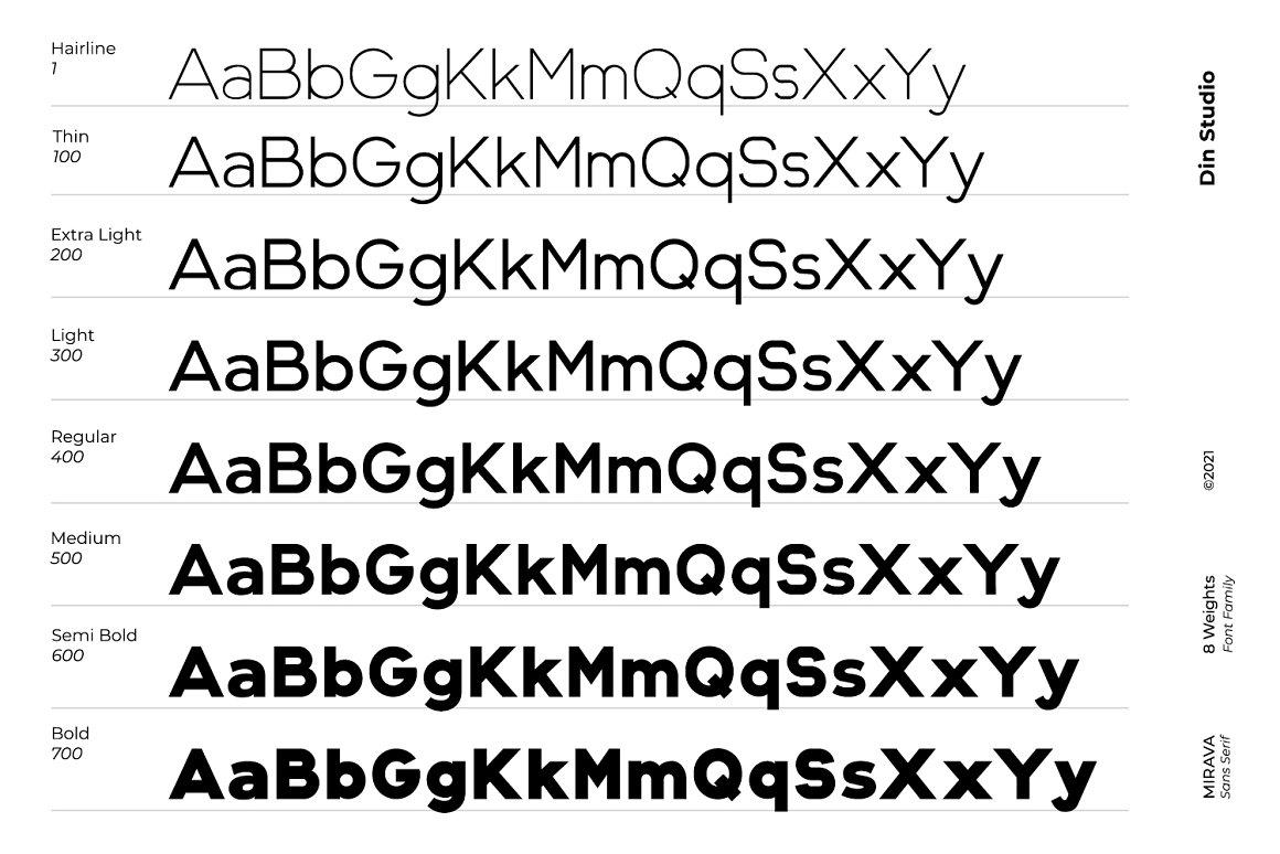 Mirava Sans Serif Font -2