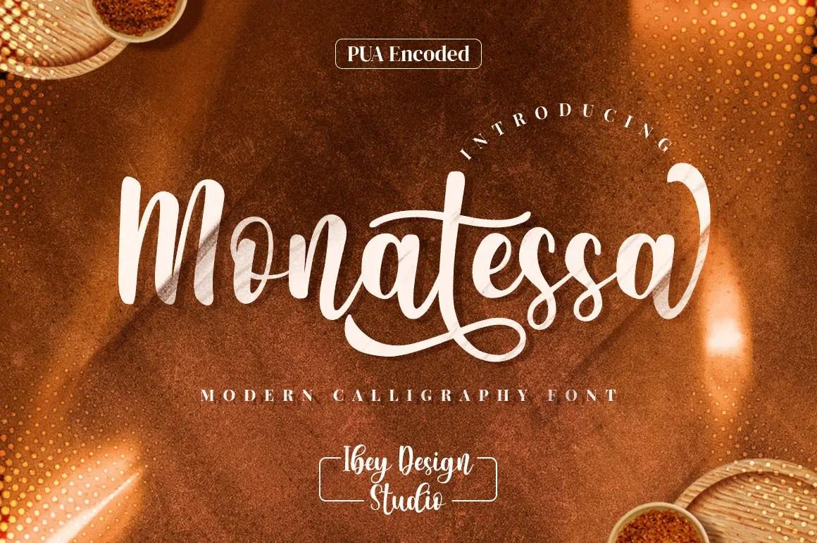 Monatessa Modern Calligraphy Font -1