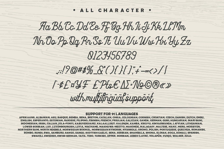 Monoline FighterMonoline Script Font -3