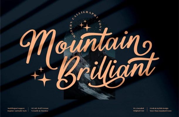 Mountain Brilliant Font