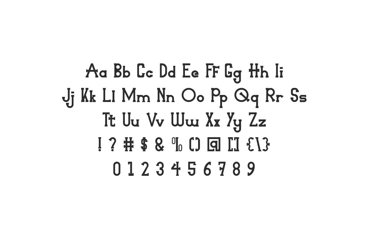 Not WantedSlab Serif Font -3