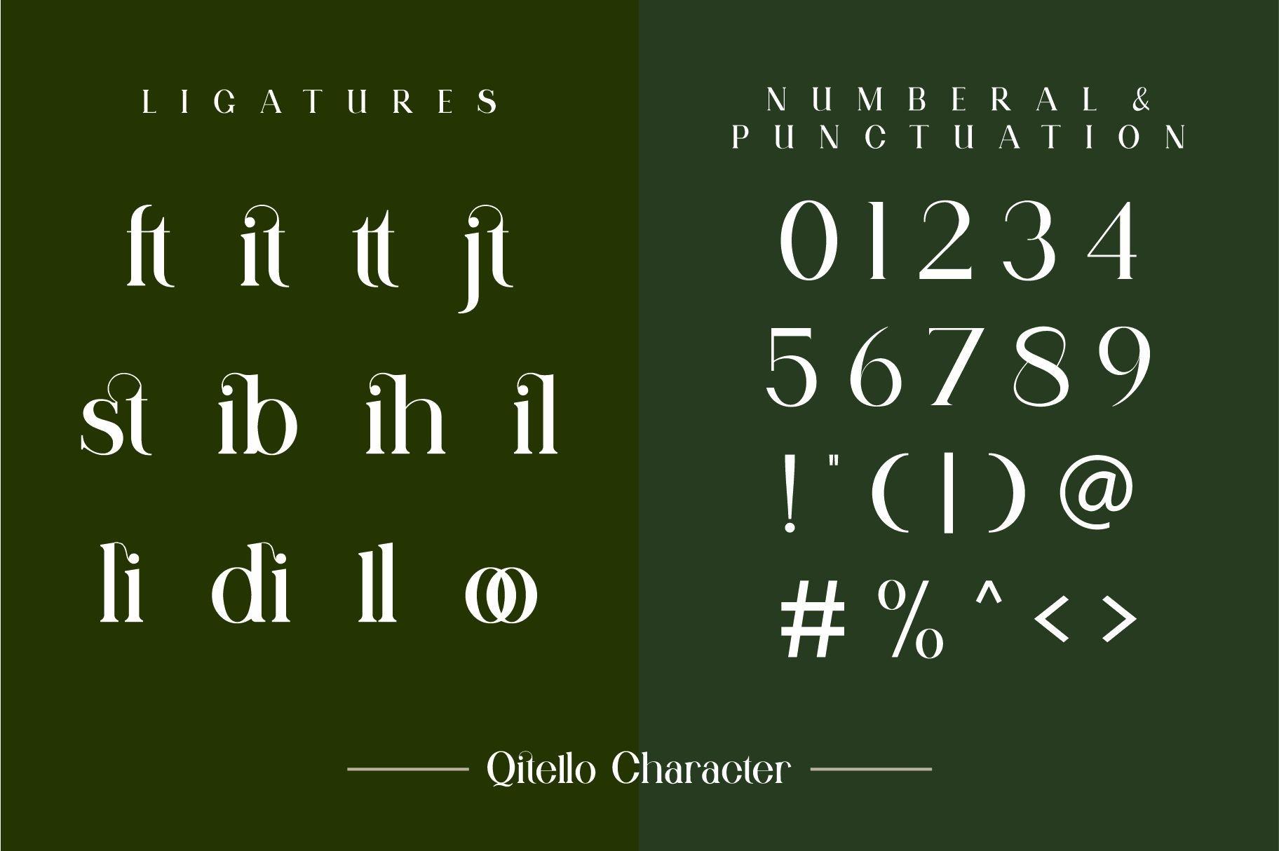 Qitello Bold Serif Typeface -3
