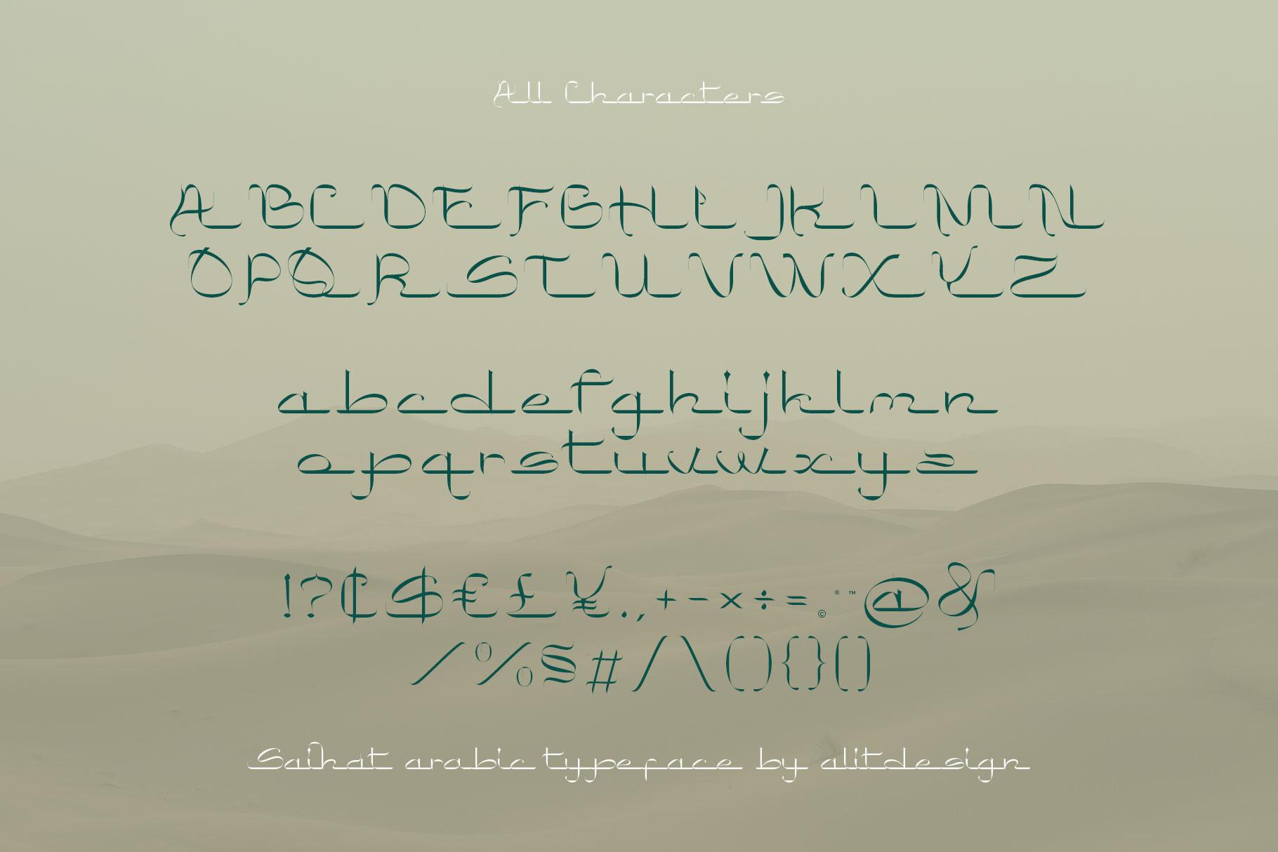 Saihat Arabic Font -3