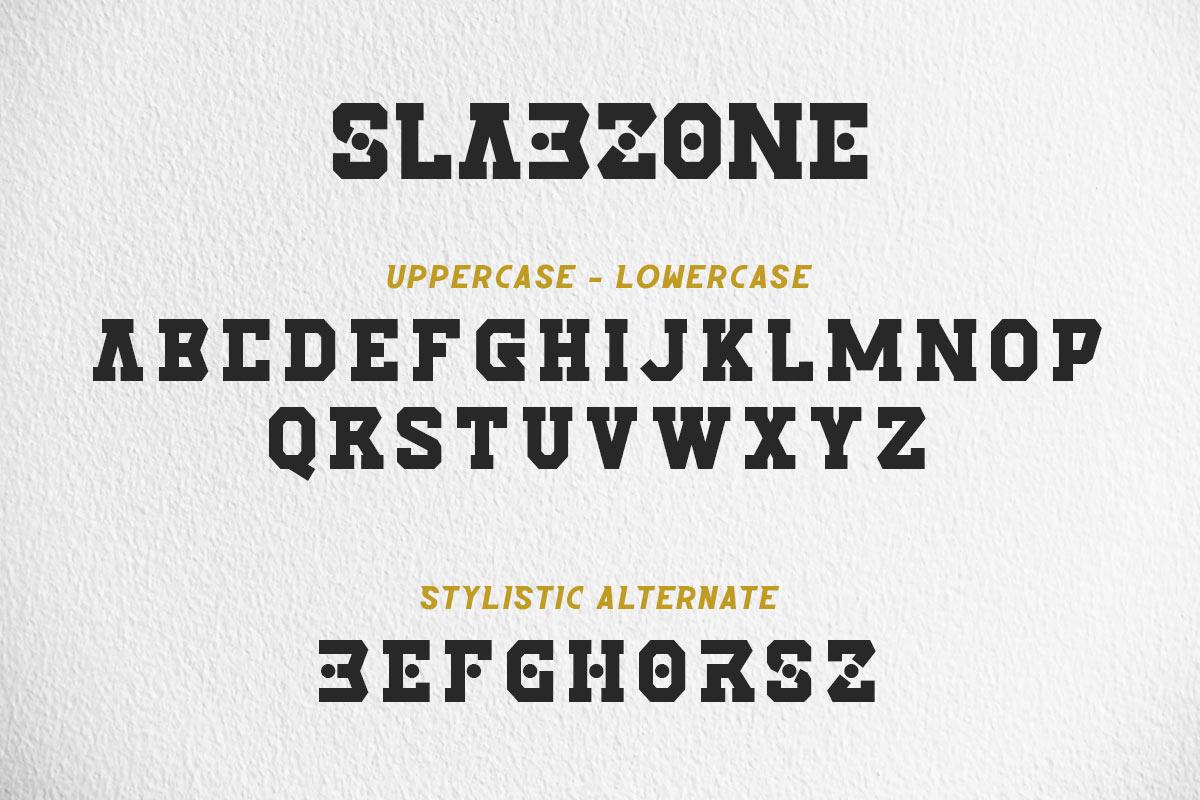 Slabzone Slab Display Font -2