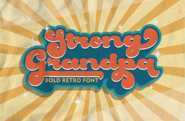 Strong Grandpa Font