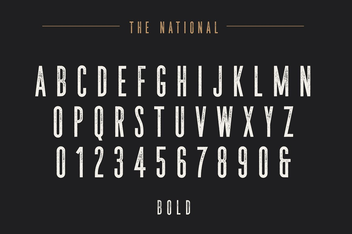 The National Condensed Font Family -3