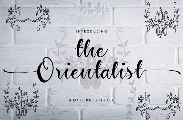 The Orientalist Font