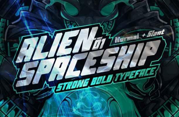 AN Alien Spaceship Font