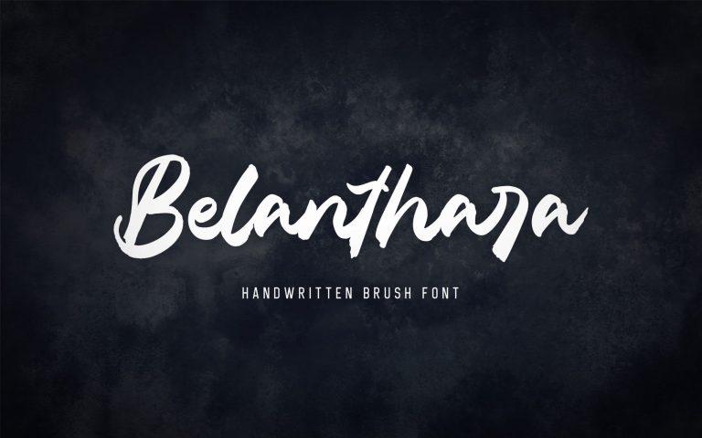 Belanthara Script Brush Font -1